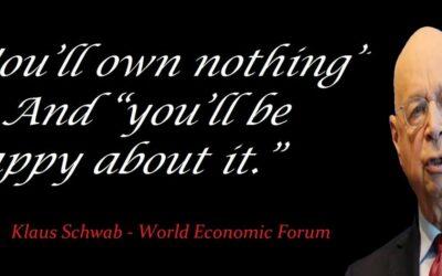 Klaus Schwab zegt – Je zult over 10 jaar niets bezitten